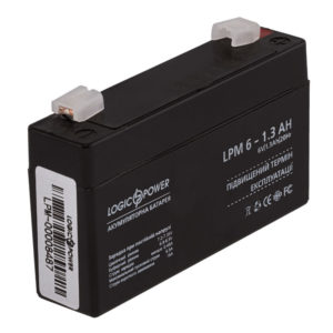 Герметичный свинцово-кислотный аккумулятор AGM LPM 6-1