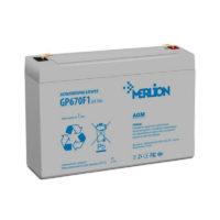 Герметичный свинцово-кислотный аккумулятор AGM MERLION GP670F1 6 V 7Ah  ( 150 x 35 x 95 (100 ) (56314658)