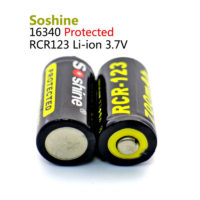 Литий-ионный аккумулятор Li-ion Soshine RCR123 (16340) 3
