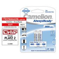 Аккумулятор CAMELION R 03/2bl 800 mAh Ni-MH (Always Ready) (5928392)
