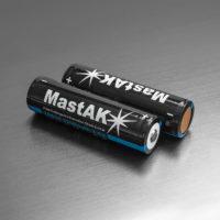 Литий-ионный аккумулятор Li-ion MastAK 18650 Li-on 2000 mAh 3.6V+защита (56311207)