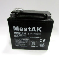 свинцово-кислотный аккумулятор для мототехники Mastak MMB1214 moto 12V 14A 151x87x146 (56314631)