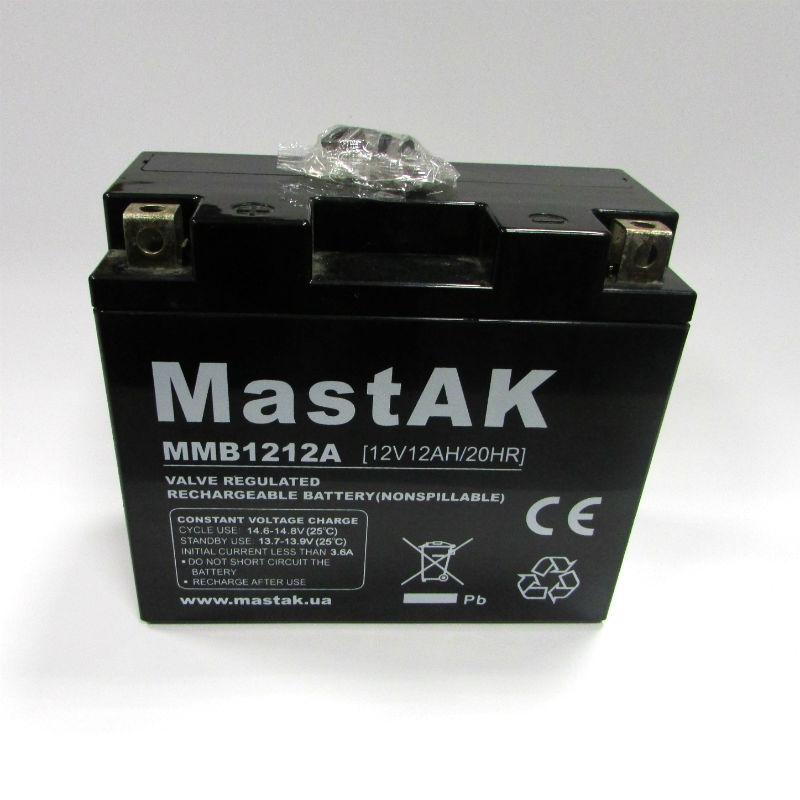 свинцово-кислотный аккумулятор для мототехники Mastak MT12120 moto 12V 12A 150*69*130/6 (56314969)