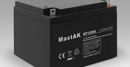 Герметичный свинцово-кислотный аккумулятор AGM Mastak MT12280 12V 28A 175*166*125 (56314632)