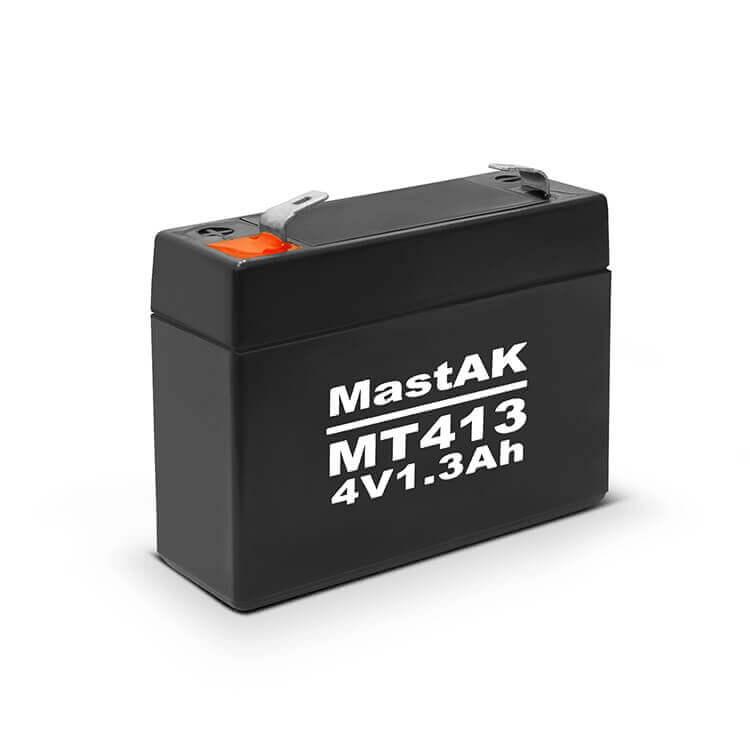 Герметичный свинцово-кислотный аккумулятор AGM Mastak MT413 4V 1.3A 35*90*65 (56309257)