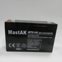 Герметичный свинцово-кислотный аккумулятор AGM Mastak MT6140 6V 14 A 151*50*94/6 (56312897)