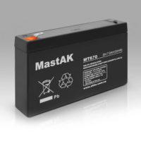 Герметичный свинцово-кислотный аккумулятор AGM Mastak MT670 6V 7A 151*34*94/6 (56312894)