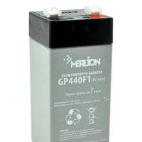 Герметичный свинцово-кислотный аккумулятор AGM MERLION GP44M1 4V 4A  47*47*100 (56314220)