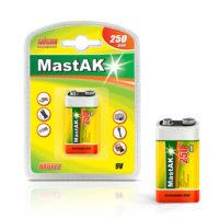 Аккумулятор крона MastAK 6F22 250 mAh  8