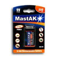 Аккумулятор крона MastAK 6F22 350 mAh  7