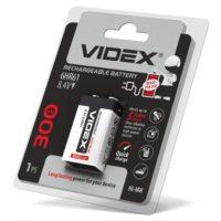 Аккумулятор крона VIDEX 6F22 300mAh Ni-MH (56314478)