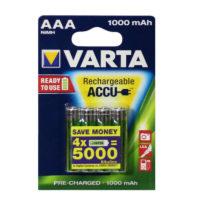 Аккумулятор Varta AAA HR03 1000mAh Ni-Mh Redy 2 Use (5703) 4bl (5784061)