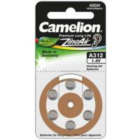 Батарейка в слуховой аппарат CAMELION ZA 312 / 6 BL