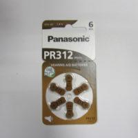 Батарейка в слуховой аппарат PANASONIC Zinc Air PR 312 / (6 bl)