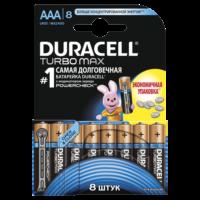 Батарейка DURACELL LR03 MN2400 KPD 08*10 Turbo 1x8 шт.