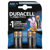 Батарейка DURACELL LR03 MN2400 KPD 04*10 Turbo 1x4 шт.