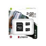 Карта памяти KINGSTON 32 ГБ micro SD 2х32 ГБ Class 10 + SD adapter (56318203)