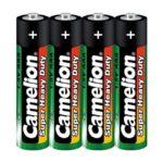 Батарейка CAMELION R03 AAA 4 shrink green (5876735)