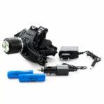 фонарь налобный аккумуляторный + zoom